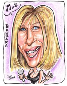 Barbra Streisand Caricature Art