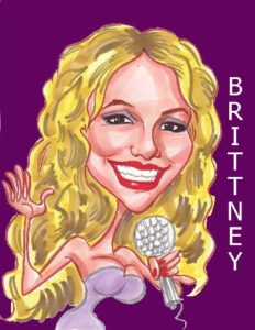 Britney Spears caricature