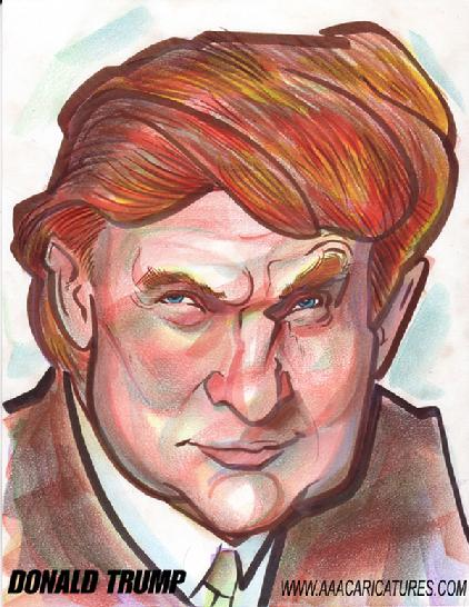 Donald Trump Caricature Art