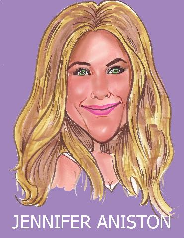 Jennifer Aniston caricature