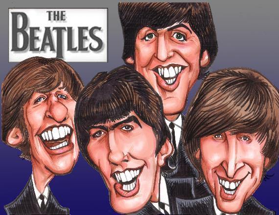 BEATLES CARICATURE PAGE