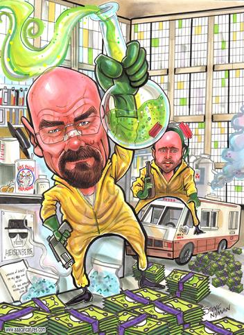 Breaking Bad Caricature Art