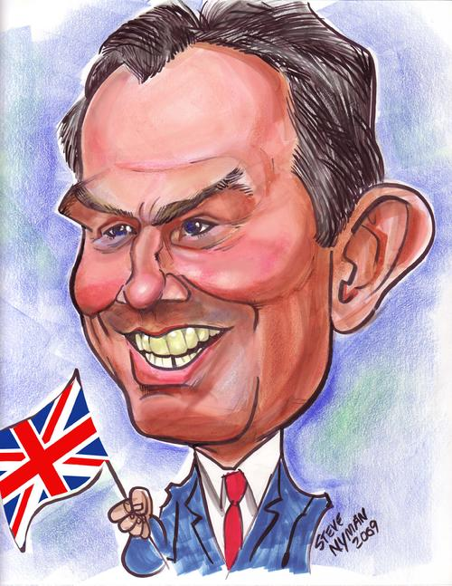 Caricature of Tony Blair