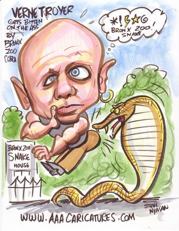 Verne Troyer Bitten on Ass by Bronx Zoo Cobra