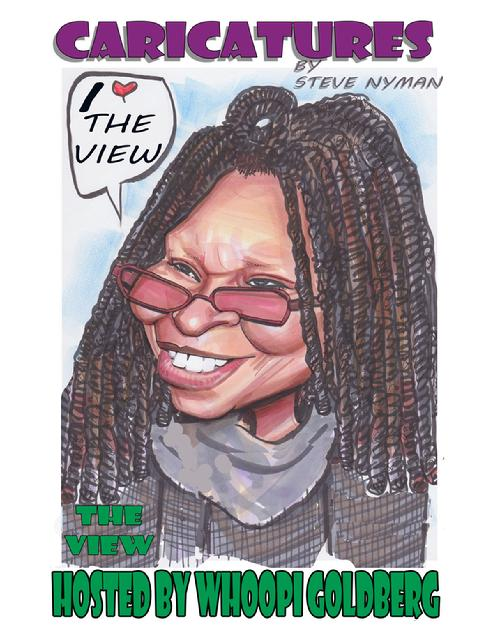 whoopi goldberg caricature art